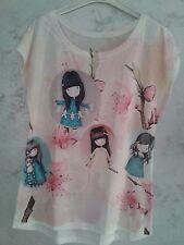 """Maglietta T-shirt Ragazza """"Girls""""  colore Bianco 13/14 anni Occasione"""