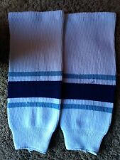 Ice Hockey Socks, 17 Inch. blue/ white