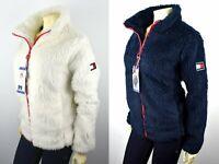 Tommy Hilfiger Women's Solid Faux Sherpa Zip Front Jacket/Coat - TW9MF754