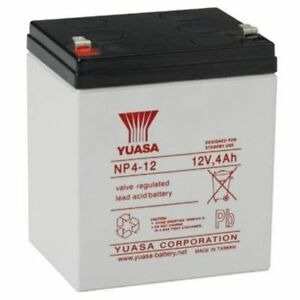 YUASA NP4-12 | 12v 4ah PREMIUM GRADE Rechargeable Mower & Strimmer Battery