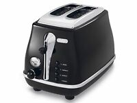 Delonghi CTO2001BK Icona 2 Slice Toaster - Black