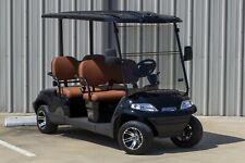 New 2021 Black / Saddle Advanced EV 48V Electric Golf Cart 4 Passenger Forward