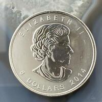 2014 1.5 OZ CANADA Maple $8 Dollars .9999 Silver Arctic Fox Wildlife Series BU