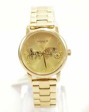 Coach 14502976 Grand Yellow Gold Tone Bracelet Ladies Watch