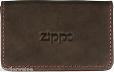 ZIPPO biglietto da visita-Borsa/Pelle Moca/Chiusura magnetica/100 x 60 mm