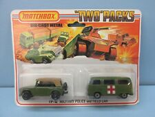 Matchbox Superfast Twin Pack TP-12 23A Dormobile SILVER WHLS & 18A Field Car