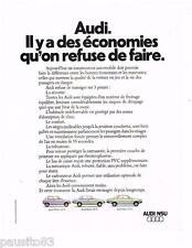 PUBLICITE ADVERTISING 095  1975   AUDI  NSU   50 80 100 GL