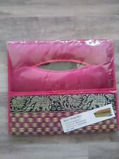 Tissue Box Cover Natural REED Wicker Handmade  Silk Rectangular
