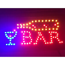 Open Bar Sign Flashing Led Light 110V 8W Man Cave Decor Pull Chain Switch Indoor