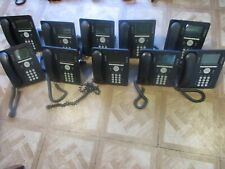 Lot of 10 Avaya 9608 IP Office Telephones with handsets and stands 770480585