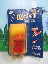 "1979 HEALTH-NIK - 3"" WISHNIK UNEEDA Troll Doll - NEW IN DAMAGED PACKAGE - RARE"