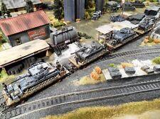 HO Roco Minitank Train #1613  2nd SS Panzer Army 4 Railway Cars Custom Detailed