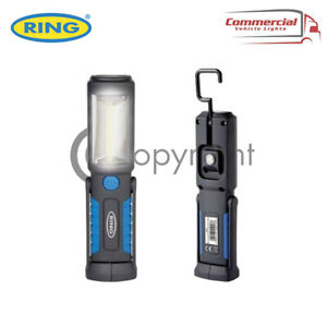 RING RECHARGEABLE COB LED LAMP TORCH EMERGENCY WORK LIGHT MAGNETIC FLEXIBLE USB