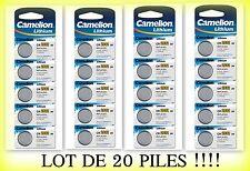 Lot de 20 piles boutons CR2032 3V camélion, livraison rapide et gratuite !