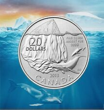 Canada 2013 $20 for $20 Pure Silver Coin Canada Iceberg and Whale (#9 in series)