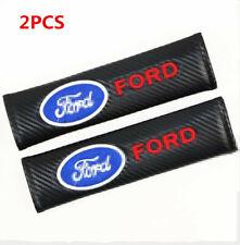 2PCS FORD Auto Interior Carbon Fiber Car Seat Belt Pads Covers Shoulder Cushion