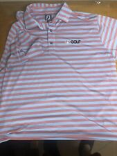 Footjoy Nbc Golf Polo Shirt 2xl Athletic Fit. Great Condotion Red Blue