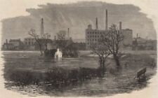 SALFORD. View in front of The Crescent. Manchester, antique print, 1866