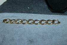 "Beautiful Large Gold Tone Chain Bracelet Wide Link 7 1/2"" X 1"" ~"