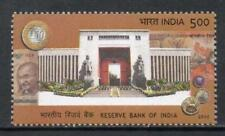 INDIA 2010 75th Anniversary Reserve Bank of India coin on stamp Mahatma Gandhi
