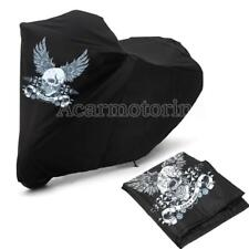 US XXL Skull Motorcycle Cover For Harley Touring Road King Electra Street Glide