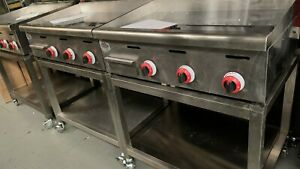 Chrome Platted Mirror Griddle , Brand Name Fat Chef Natural Gas or LPG