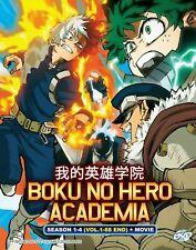 DVD Anime My Hero Academia Complete Series Season 1+2+3+4+ Movie English Version