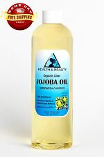 JOJOBA OIL CLEAR ORGANIC CARRIER COLD PRESSED REFINED 100% PURE 24 OZ