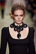 TOM FORD Oversized Statement Necklace Runway Rope Braided Leaher Fall 15 $1390