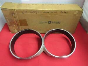 1969 69 Dodge Monaco & Polara Headlamp Bezel NOS MOPAR 2898160