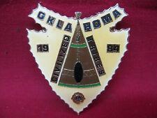Vintage Lapel Pin Badge Oklahoma Civilized Tribes 1984  Lions Club