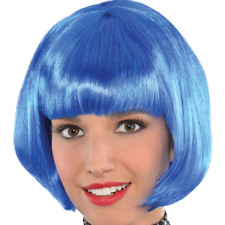 NEW Themed   Party Blue Bob Wig
