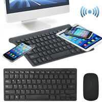 Ultra Slim Thin Wireless Keyboard and Mouse Set Combo 2.4GHz Kit fr PC Laptop MT