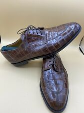 Mezlan Princeton Genuine Brown Alligator Leather Sz 14M Dress Shoes