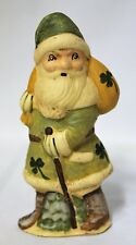 St. Patrick's Santa #3 Rich Connolly Antique Chocolate Mold Folk Art Chalkware
