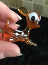 1950s Glass Bambi Deer Novelty Mirano