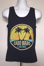 Mens Cabo Wabo Cantina palm tree beach sailboat Tank Top Shirt small