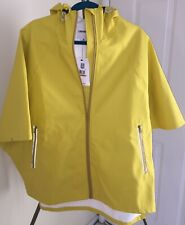 Yellow Converse Rubber Poncho Rain Coat / Zipper Jacket / Hoodie sz Small NWT