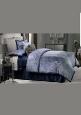Jennifer Lopez CENTER STAGE Comforter Set - 4pc Contemporary Blue Silver Sparkle
