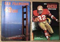 1978 79 San Francisco 49ers Media Guide Yearbook Lot RANDY CROSS OJ Simpson