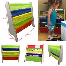 NEW Vehicle Sling Bookcase Kids Bedroom Storage Paper Book Case Shelf UK