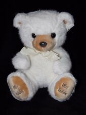 MOTHERCARE MY TEDDY SOFT TOY VINTAGE WHITE BEAR COMFORTER DOUDOU