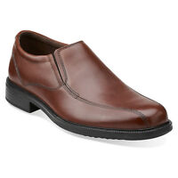 Bostonian Bardwell Step Mens Brown Leather Slip-On Loafer Shoes