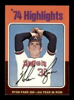 1975 Topps Set Break # 5 Nolan Ryan Highlights NM-MINT *OBGcards*