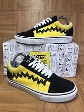 7f45232bf1 RARE🔥 VANS Old Skool Peanuts Charlie Brown Low Top 6.5 Good Grief Yellow  Black