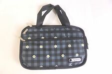 LeSportsac  Small Purse Cosmetic Makeup Bag w/ Handles Side Pockets New
