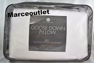 Hotel Collection European White Goose Down STANDARD QUEEN Pillows Firm Support