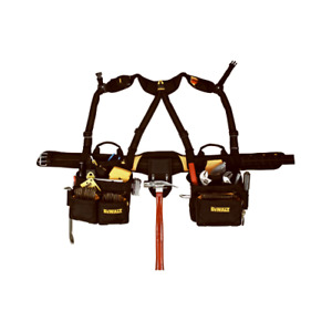 CLC DG5617 Tool Apron with Yoke Style Suspenders, 29 to 46 in Waist, Poly Fabric