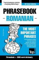 English-Romanian Phrasebook and 3000-Word Topical Vocabulary (Paperback or Softb