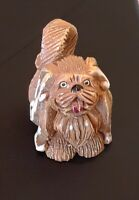 Vintage ADORABLE  Pekingese Dog Artesania Rinconada Collectible Figurine Uruguay